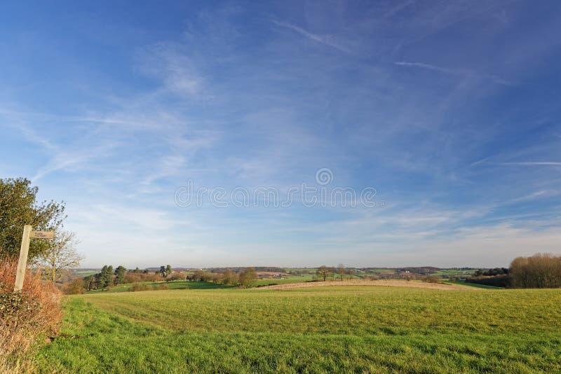 Stour Valley, Reino Unido, no inverno imagens de stock royalty free