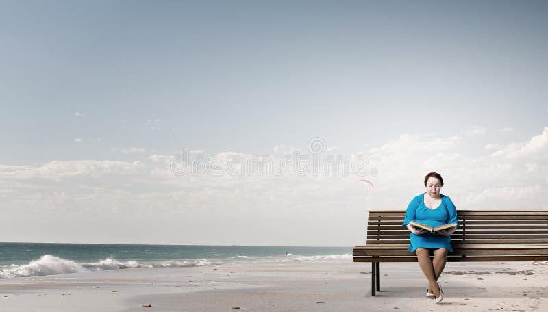 Stout woman. Concept image royalty free stock photos