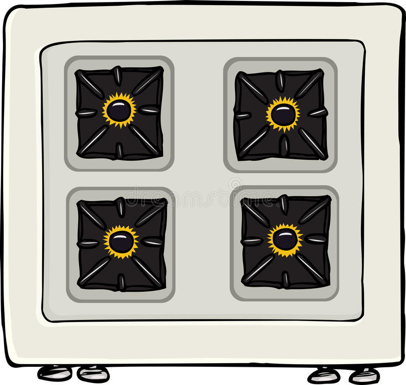 Download Stove With Flames stock vector. Image of isolated, knobs - 23271536