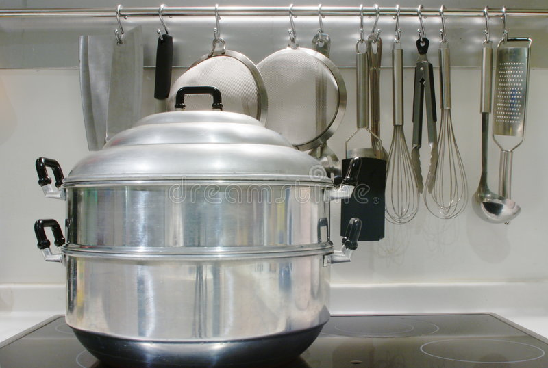 Stovetop Steamer Royalty Free Stock Images