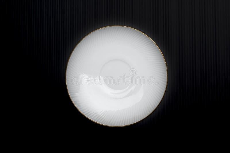 Stoviglie bianche della porcellana fotografia stock