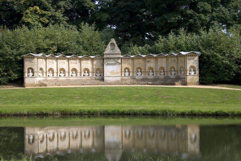 Stowe Gärten stockbilder