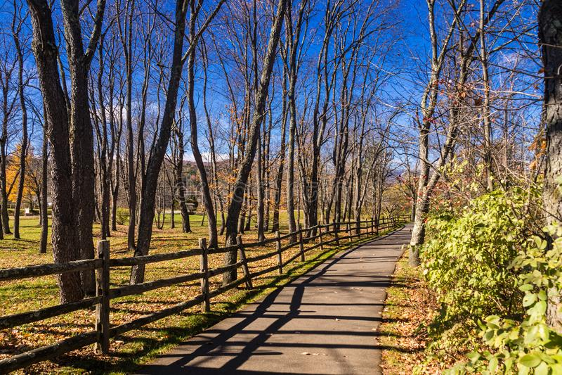 Stowe Vermont USA Recreation Park scenic. At fall royalty free stock images