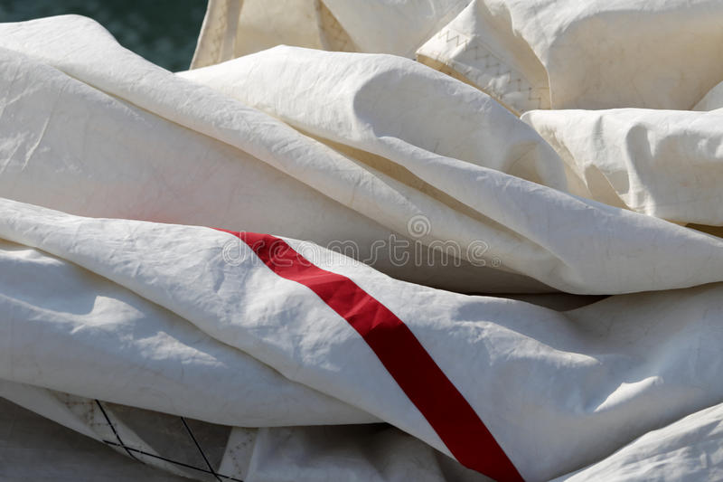 Stowed sail royalty free stock images