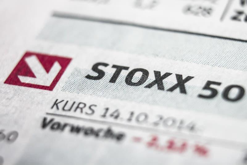 Stoxx 50 Makro- pojęcie zdjęcie royalty free