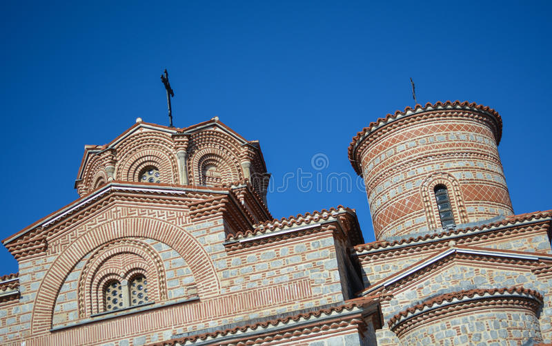 StPanteleimon kloster i Ohrid royaltyfri foto