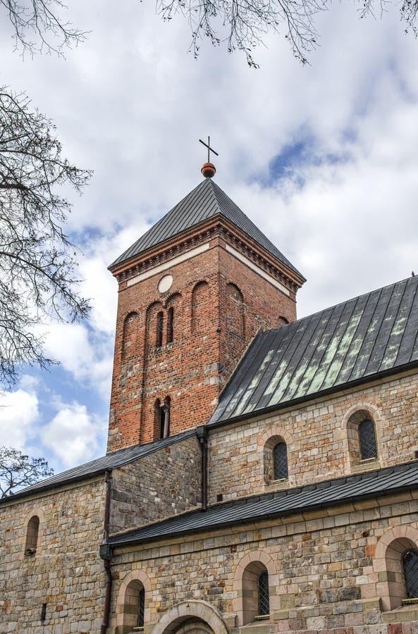 StPeter和StPaul大学在Kruszwica 免版税库存照片