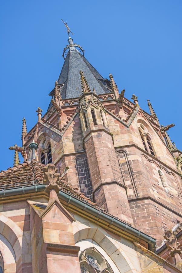 StPeter e Paul Church em Wissembourg fotos de stock