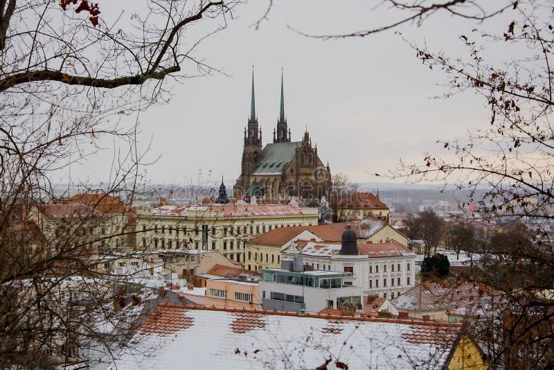 StPeter et Paul de cathédrale en hiver images libres de droits