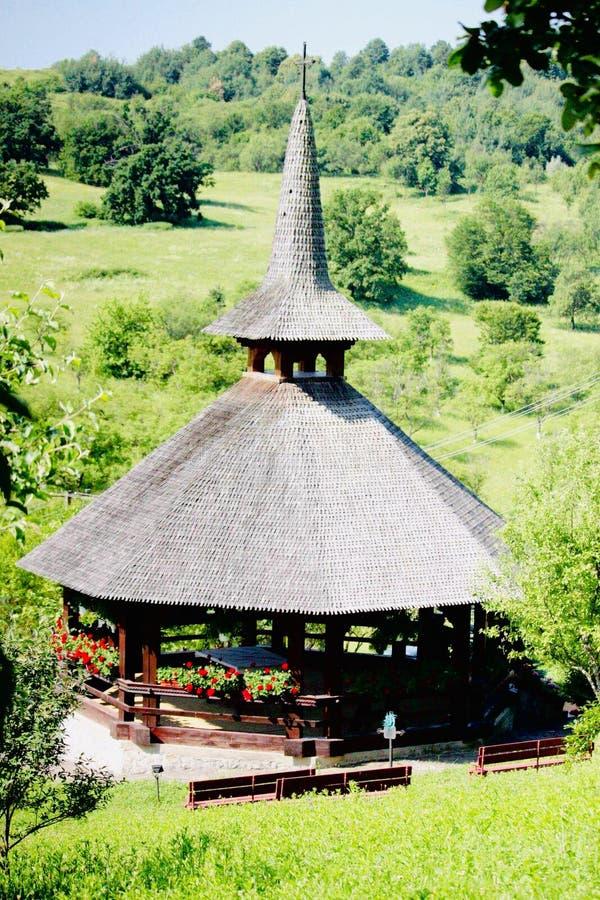 Strâmba修道院,其中一个特兰西瓦尼亚老正统修道院  库存图片