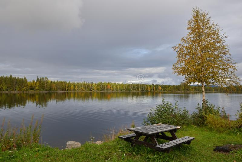 Ströms vattudal en Suède image stock