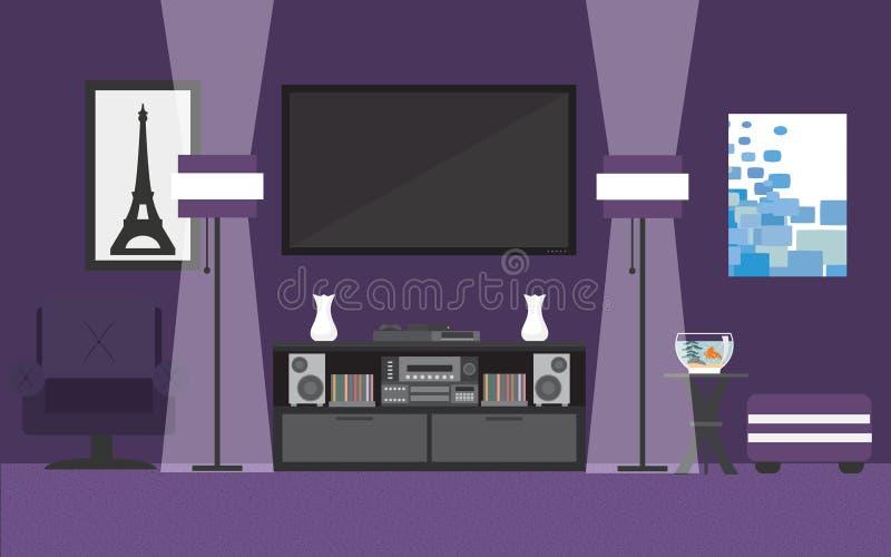 strömförande purpur lokal royaltyfri illustrationer