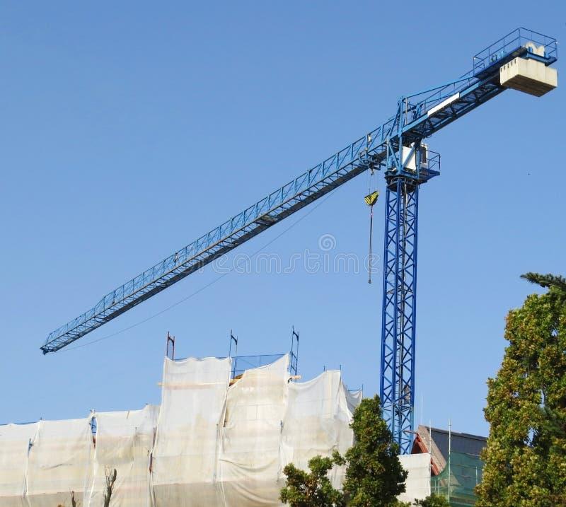 Sträcka på halsen konstruktion, industriellt arbete, bakgrund för byggandeprojec royaltyfria foton