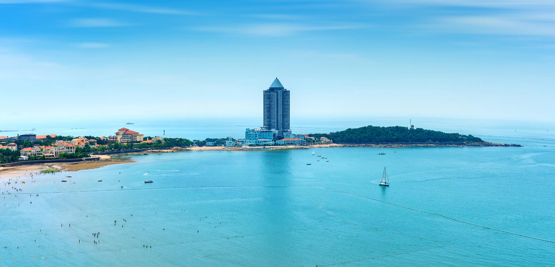 Strände in Qingdao, China stockbild