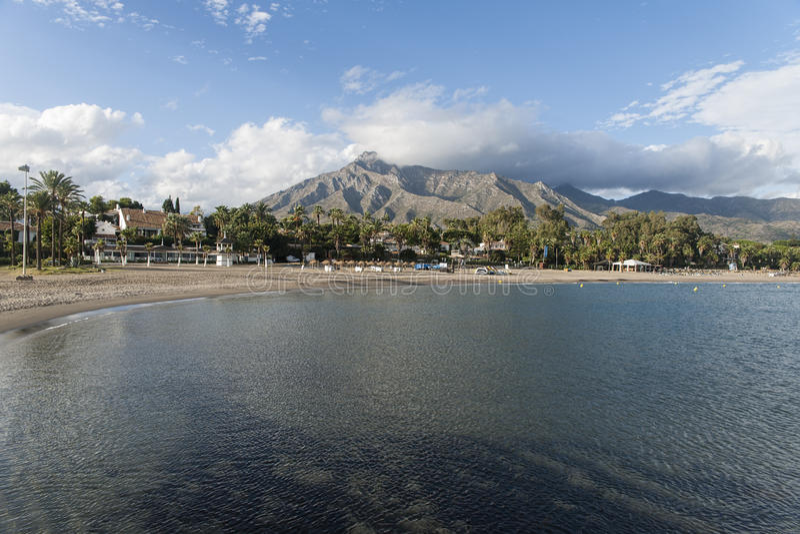 Stränder av Costa del Sol, Marbella fotografering för bildbyråer