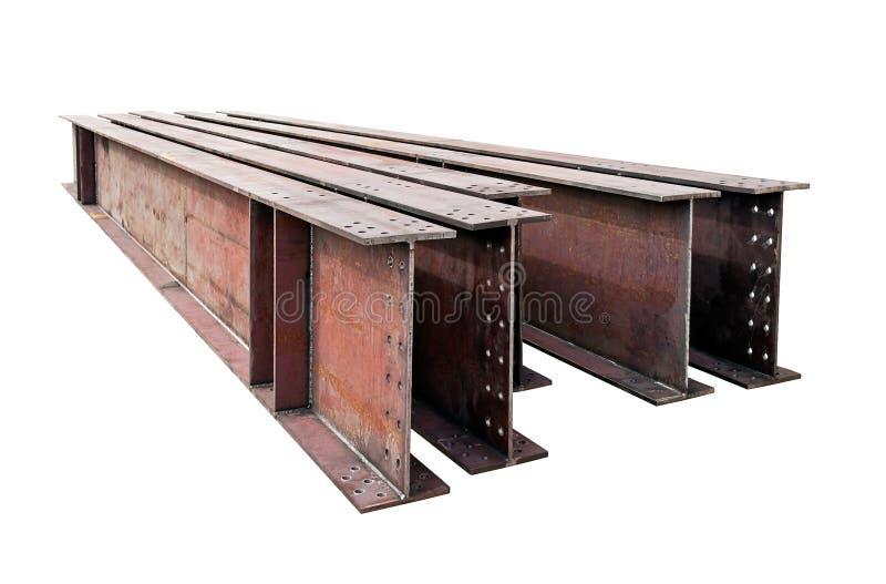 Strålar för svetsad metall som isoleras på vit bakgrund arkivbild