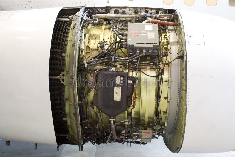 stråle för flygplandetaljmotor royaltyfria bilder