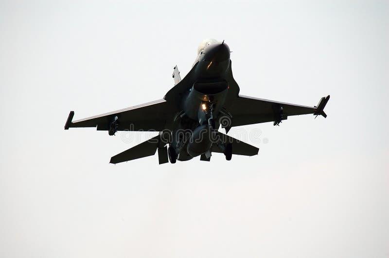 Stråle för kämpe F16 royaltyfri bild