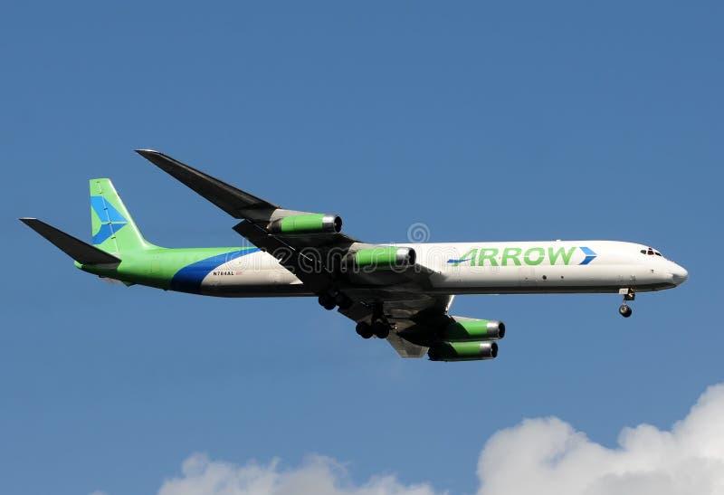 stråle mcdonnell för dc douglas för 8 flygplan royaltyfri fotografi