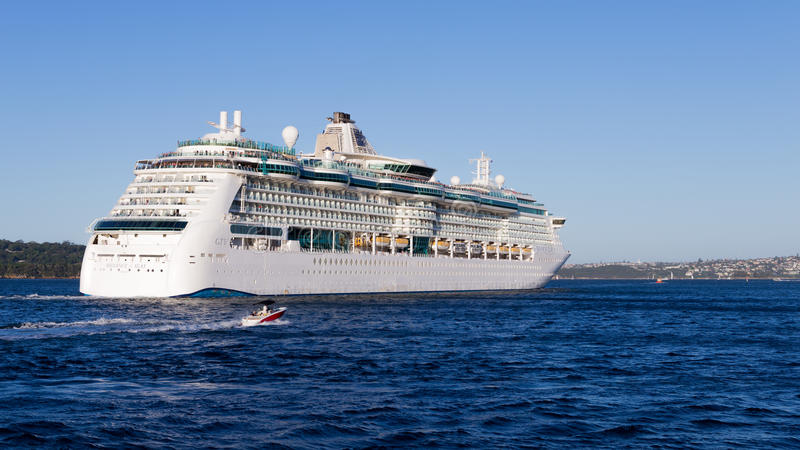 Strålglans för kryssningskepp av haven, Sydney royaltyfri foto