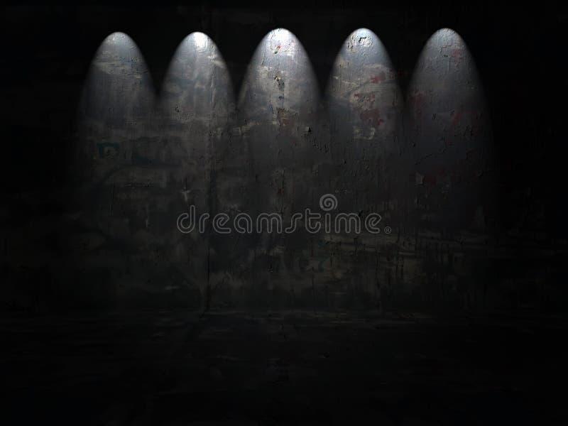 strålkastarear för mörk lokal royaltyfri fotografi