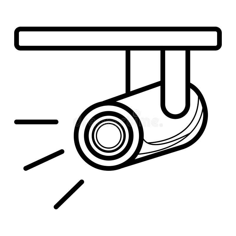 Strålkastaresymbolsvektor vektor illustrationer