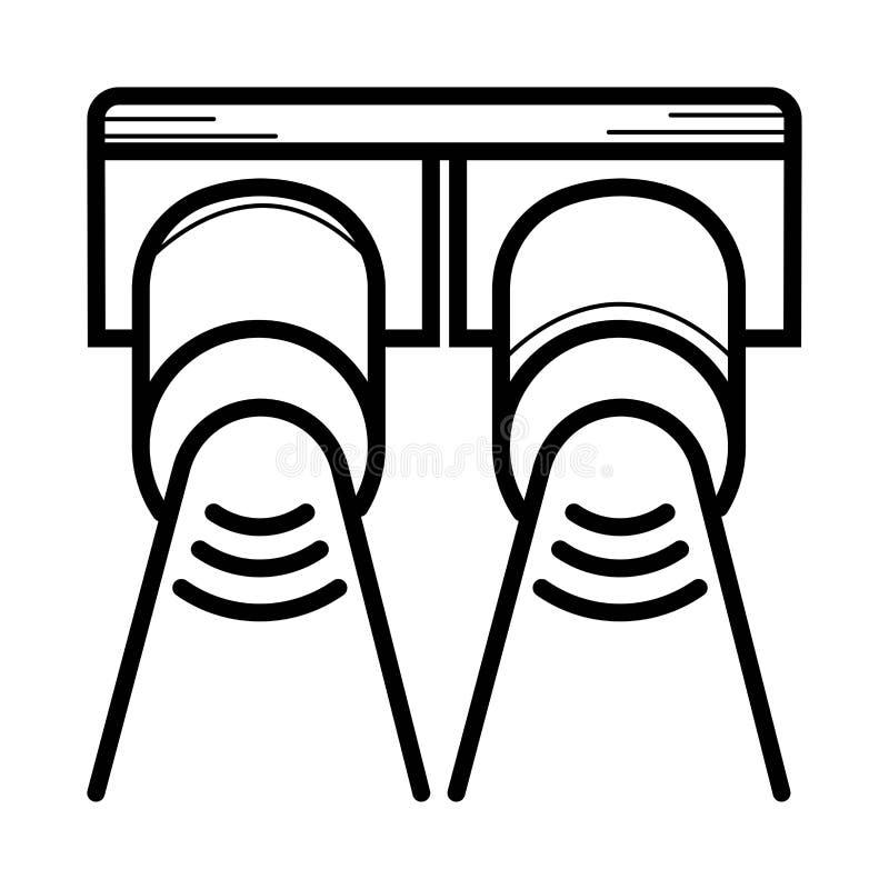 Strålkastarevektorsymbol royaltyfri illustrationer