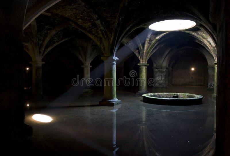 strålmörkersolljus royaltyfri bild