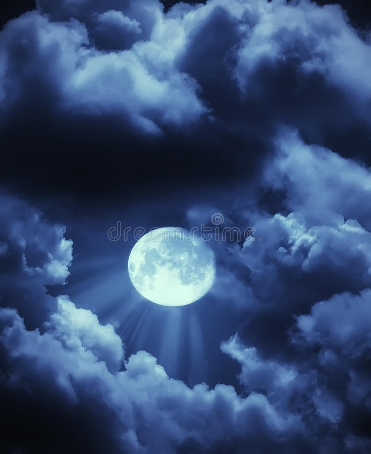 stråloklarhetsmoon fotografering för bildbyråer