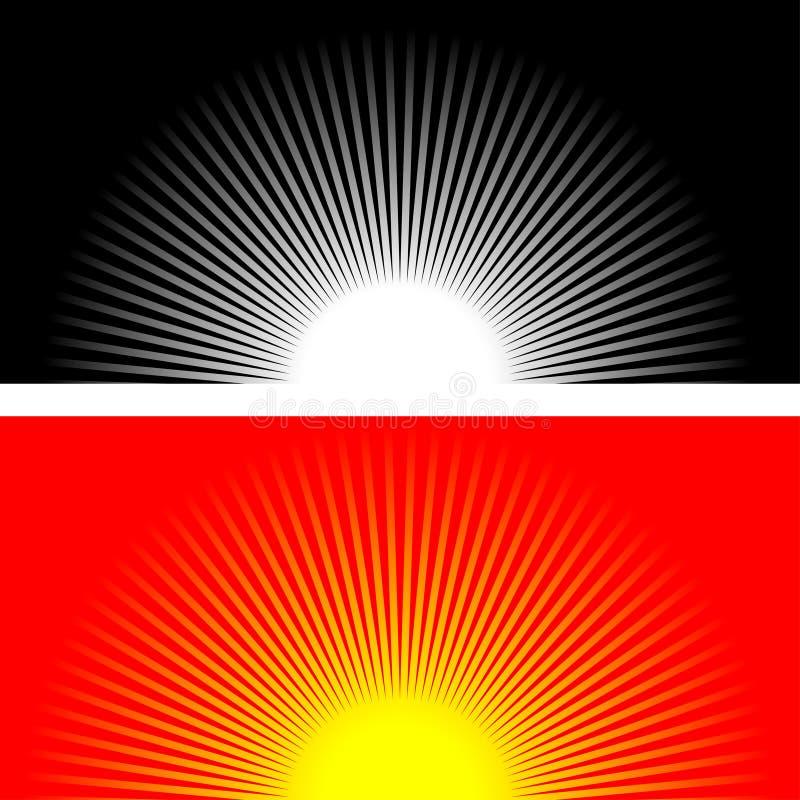 strålsun royaltyfri illustrationer