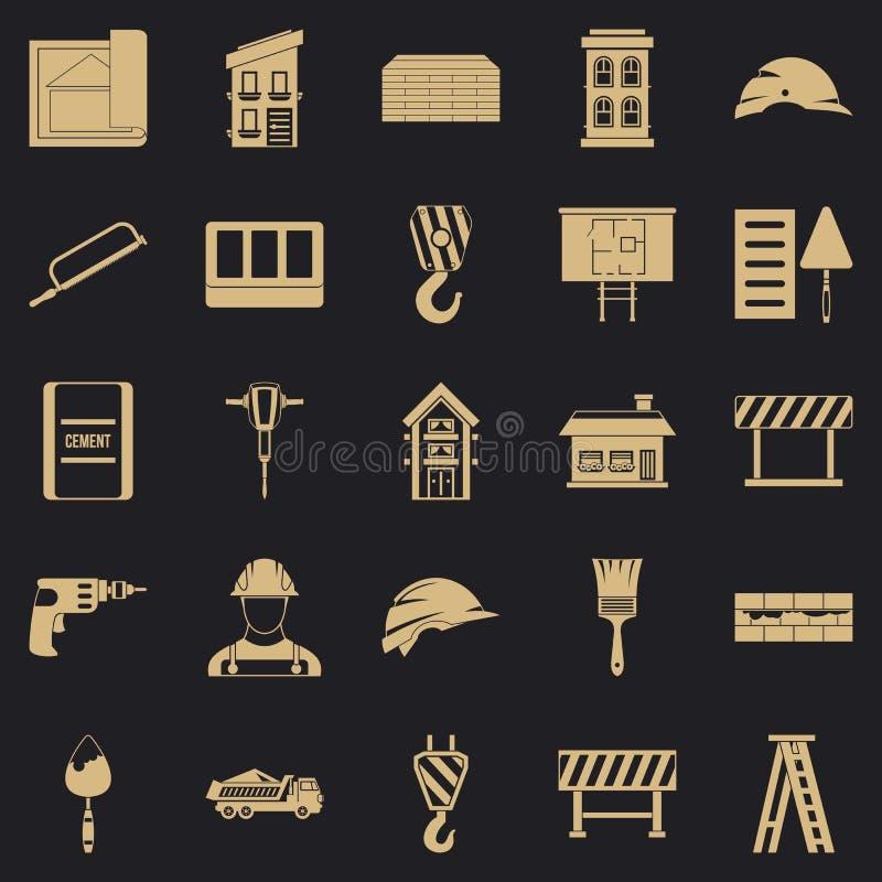 Strój ikony ustawiać, prosty styl ilustracja wektor
