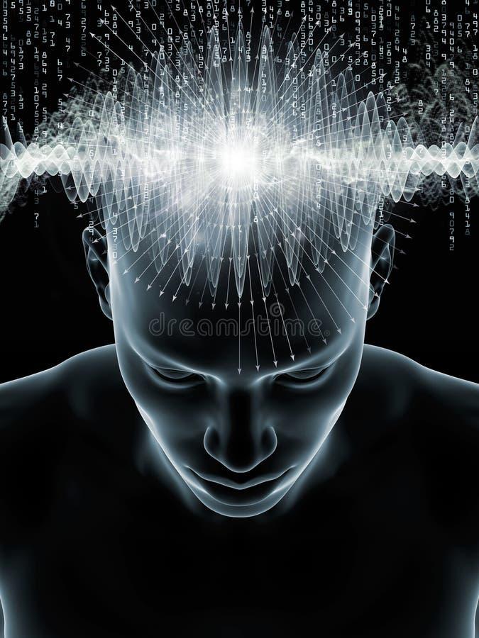 Ström av den mänskliga meningen vektor illustrationer