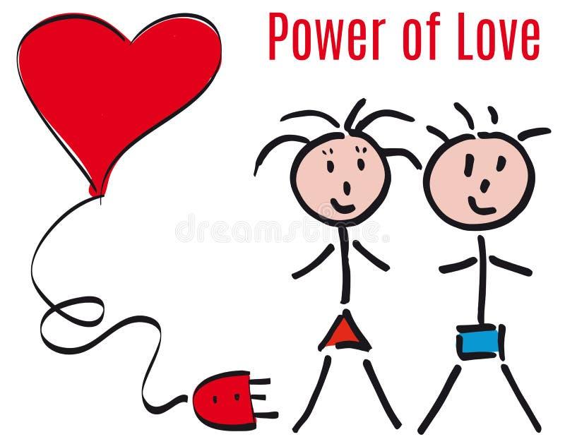 Ström av förälskelse vektor illustrationer
