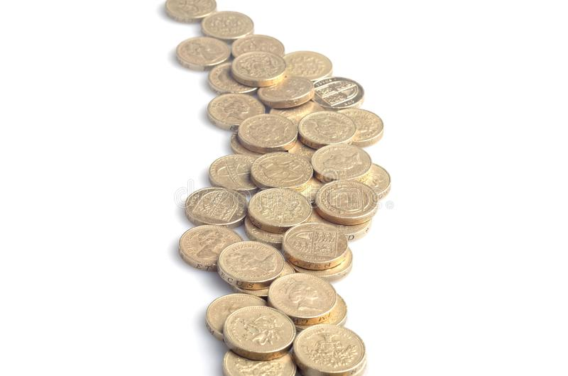 Ström av pengar arkivbilder