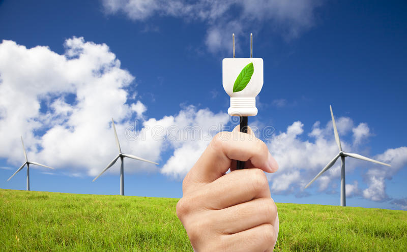 ström för propp för ecohandhåll arkivbild