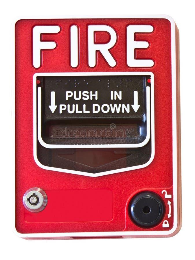 Strömbrytare för brandlarm royaltyfri bild