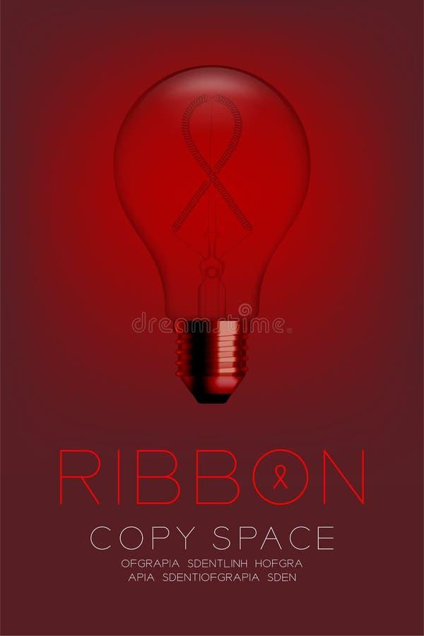 Strömbrytare för ljus kula för alfabet glödande av uppsättningbandvälgörenhet stock illustrationer