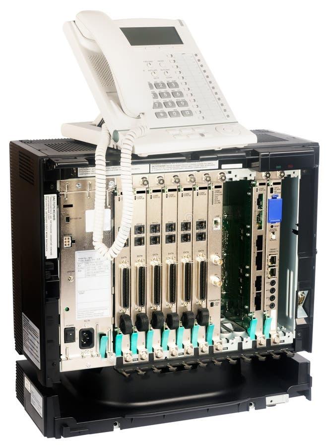 strömbrytare för telefonset arkivfoto