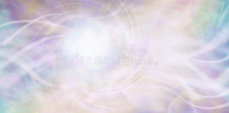 Strömen des ätherischen Energiehintergrundes vektor abbildung