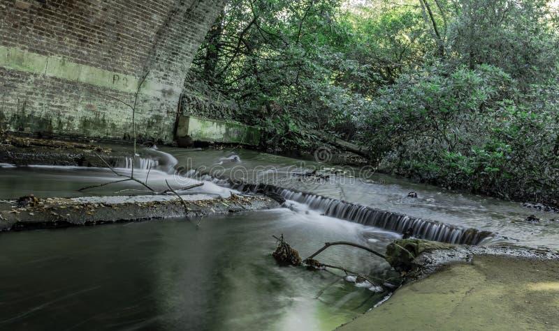 Strömen Sie unter der Braut in Virginia Water, Surrey, Vereinigtes Königreich lizenzfreie stockbilder