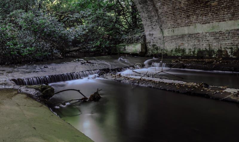Strömen Sie unter der Braut in Virginia Water, Surrey, Vereinigtes Königreich lizenzfreies stockbild