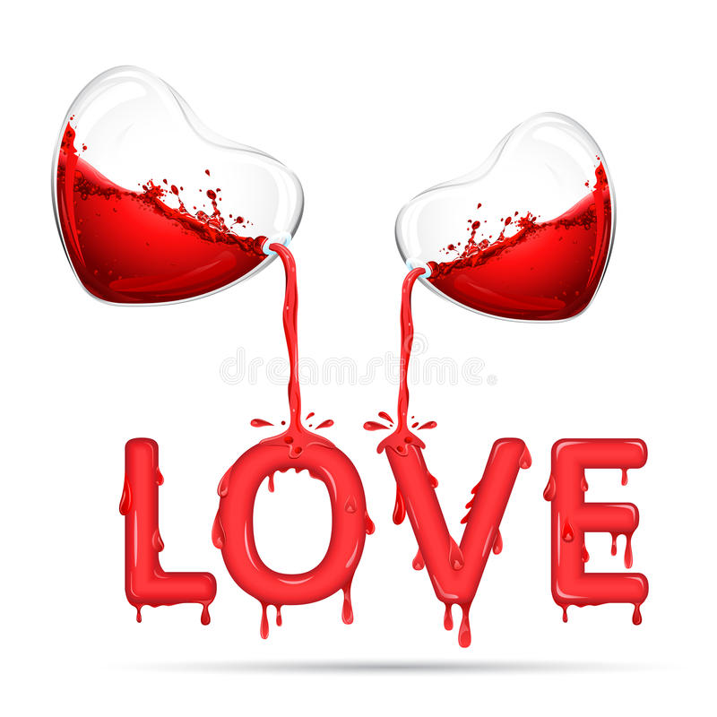 Strömende Liebe stock abbildung