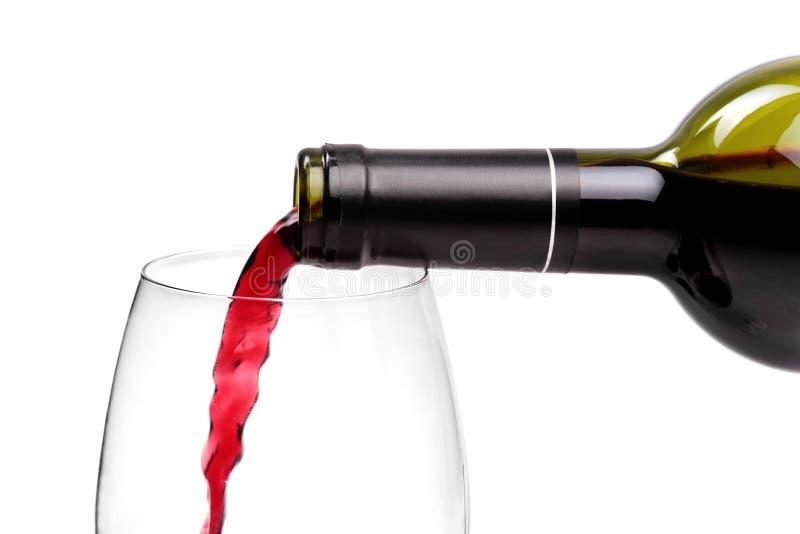 Strömender Rotwein lizenzfreie stockfotografie