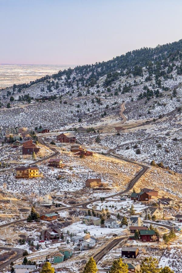 strömförande berg för colorado foothills arkivbild