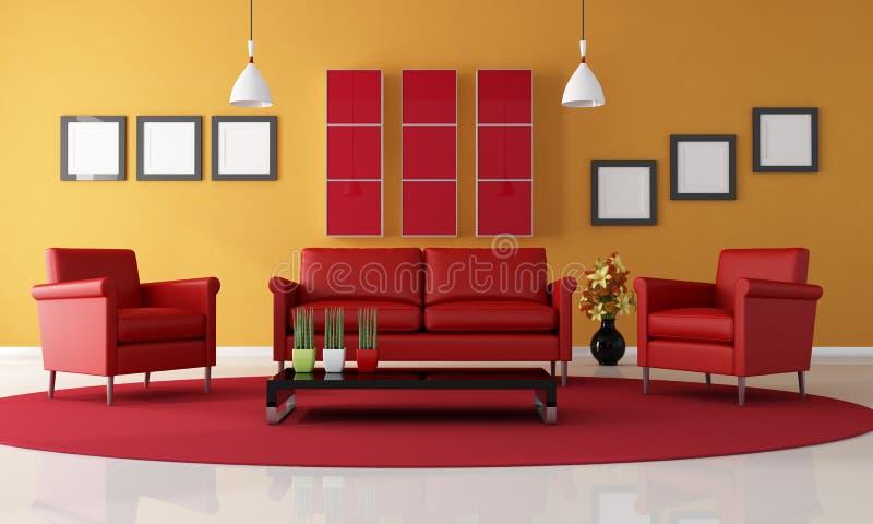 strömförande lokal för orange red vektor illustrationer