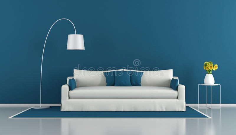 strömförande modern lokal för blue stock illustrationer