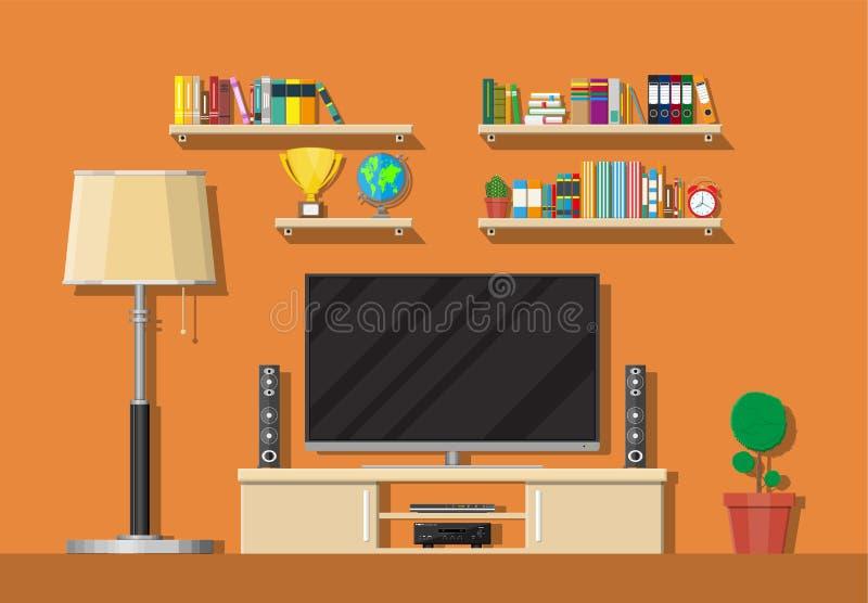strömförande modern lokal för interior vektor illustrationer