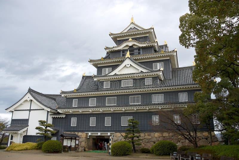 strömförsörjning okayama för slottjapan keep arkivfoto