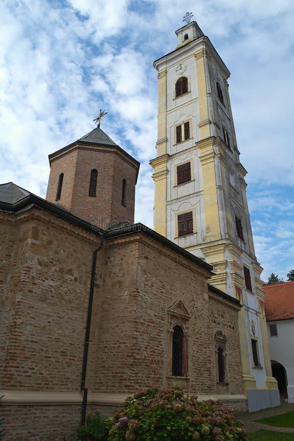 Strömförsörjningskyrka i kloster stora Remeta, Serbien royaltyfri fotografi
