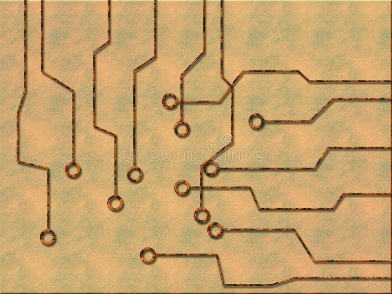strömkrets royaltyfri illustrationer